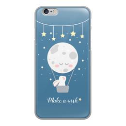 "Чехол для iPhone 6, объёмная печать ""Загадай желание"" - звезды, заяц"