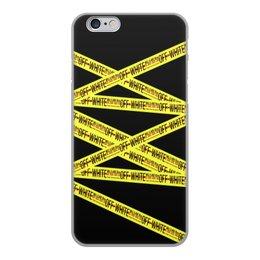 """Чехол для iPhone 6, объёмная печать """"Off-white"""" - надписи, бренд, brand, off-white, оф вайт"""