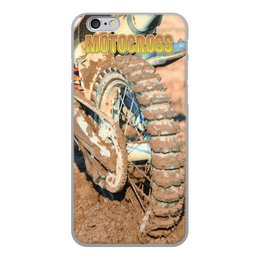 """Чехол для iPhone 6, объёмная печать """"Motocross"""" - мотоцикл, песок, колесо, motocross, эндуро"""
