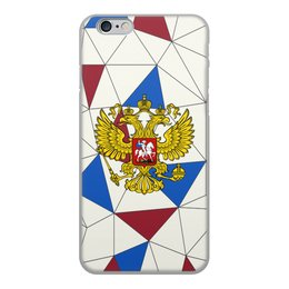 """Чехол для iPhone 6, объёмная печать """"Без названия"""" - русский, россия, герб, орел, флаг"""