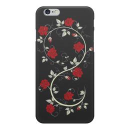 """Чехол для iPhone 6, объёмная печать """"Красные розы"""" - цветы, розы"""