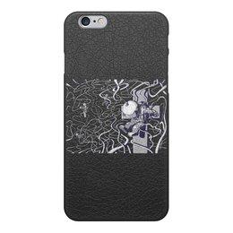 """Чехол для iPhone 6, объёмная печать """"Spaceman"""" - space, крест, космос, космонавт"""