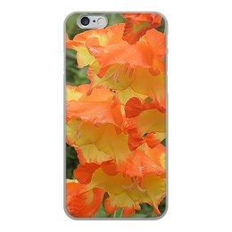 """Чехол для iPhone 6, объёмная печать """"Яркий день."""" - лето, цветы, гладиолус, гладиолусы, яркое настроение"""