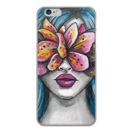 """Чехол для iPhone 6, объёмная печать """"Весна"""" - праздник, девушка, цветы, 8 марта, весна"""