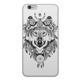 """Чехол для iPhone 6, объёмная печать """"Тотем. Волк"""" - графика, волк, тотем"""