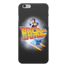 """Чехол для iPhone 6, объёмная печать """"Назад в будущее or Back to the future"""" - кино, фильм, назад в будущее, back to the future, 80's"""