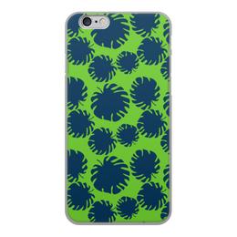 """Чехол для iPhone 6, объёмная печать """"Тропические листья"""" - стиль, листья, ярко, сочно, джунгли"""