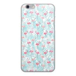 "Чехол для iPhone 6, объёмная печать ""Фламинго"" - фламинго"