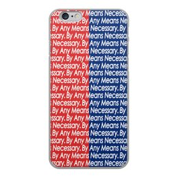 "Чехол для iPhone 6, объёмная печать ""By any means necessary"" - узор, надписи, бренд, brand, by any means necessary"