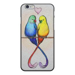 """Чехол для iPhone 6, объёмная печать """"Нежность на ветках 6"""" - любовь, рисунок, природа, пара, нежность"""