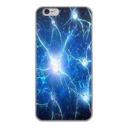 """Чехол для iPhone 6, объёмная печать """"Молекулы"""" - узор, абстракция, текстура, химия, молекулы"""