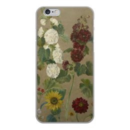 """Чехол для iPhone 6, объёмная печать """"Цветы (картина Эжена Делакруа)"""" - цветы, картина, живопись, делакруа, романтизм"""
