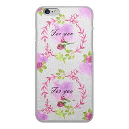 """Чехол для iPhone 6, объёмная печать """"Весна"""" - сердце, 14 февраля, роза, день влюбленных"""