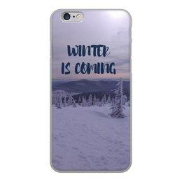 """Чехол для iPhone 6, объёмная печать """"Winter is coming """" - winter, зима, снег, горы, сноуборд"""