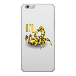 """Чехол для iPhone 6, объёмная печать """"Знаки зодиака - скорпион"""" - робот, скорпион, знак зодиака"""