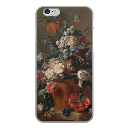 "Чехол для iPhone 6, объёмная печать ""Ваза с цветами (Ян ван Хёйсум)"" - цветы, картина, живопись, натюрморт, ян ван хёйсум"