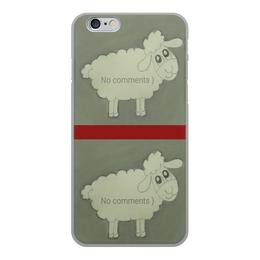 """Чехол для iPhone 6, объёмная печать """"Чехол Овечка"""" - прикольная, веселая, овечка, бедная"""