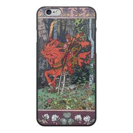 """Чехол для iPhone 6, объёмная печать """"Красный всадник (Иван Билибин)"""" - картина, билибин, живопись, сказка, богатыри"""