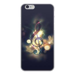 """Чехол для iPhone 6, объёмная печать """"Музыка ночи"""" - музыка, ночь, нота"""