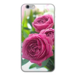 """Чехол для iPhone 6, объёмная печать """"Розовые розы"""" - праздник, цветы, весна, розовый, розы"""