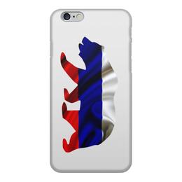 """Чехол для iPhone 6, объёмная печать """"Русский Медведь"""" - bear, медведь, русский, флаг, russian"""