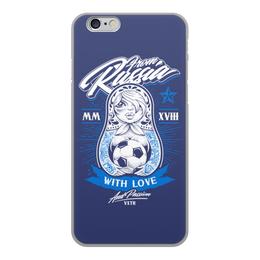 """Чехол для iPhone 6, объёмная печать """"Футбол"""" - футбол, спорт, матрёшка"""