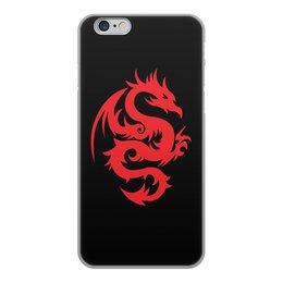"""Чехол для iPhone 6, объёмная печать """"ДРАКОНЫ ФЭНТЕЗИ. СИМВОЛИКА"""" - стиль, дракон, красота, эмблема, символ"""