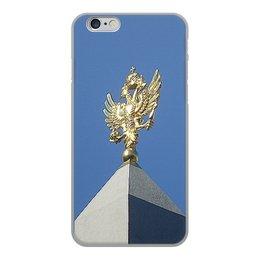 """Чехол для iPhone 6, объёмная печать """"Двуглавый орел."""" - россия, герб, небо, символ, двуглавый орел"""