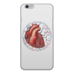 """Чехол для iPhone 6, объёмная печать """"Внутренний мир - сердце"""" - сердце, любовь, зомби, анатомия"""