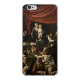 """Чехол для iPhone 6, объёмная печать """"Мадонна с чётками (Караваджо)"""" - картина, караваджо, живопись"""