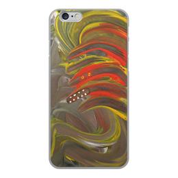"""Чехол для iPhone 6, объёмная печать """"Зубастый монстр с ирокезом"""" - монстр, панк, зубастый, ирокез, мультяшный"""