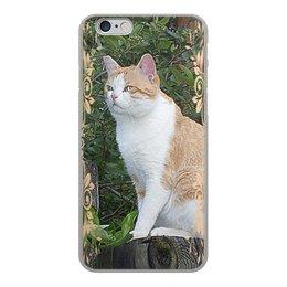 """Чехол для iPhone 6, объёмная печать """"Дозорный кот."""" - кот, котэ, котик, рыжий кот, наглый кот"""