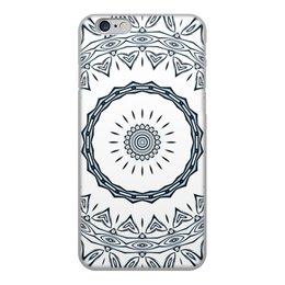 """Чехол для iPhone 6, объёмная печать """"Барабан Альт"""" - музыка, подарок, женщине, мужчине, мандала"""