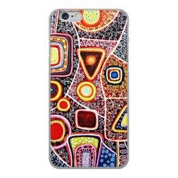"""Чехол для iPhone 6, объёмная печать """"гравитация"""" - картина, абстракция, искусство, живопись, яркие цвета"""