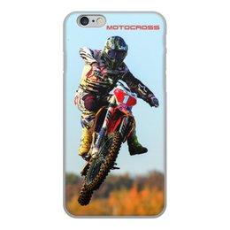 """Чехол для iPhone 6, объёмная печать """"Мотокросс"""" - мотоцикл, мотокросс, motocross, мотогонщик, mx1"""