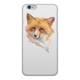 """Чехол для iPhone 6, объёмная печать """"Портрет хитрой лисы."""" - портрет, рыжий, лиса, животное, хитрый"""