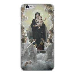 """Чехол для iPhone 6, объёмная печать """"La Vierge aux anges (картина Вильяма Бугро)"""" - картина, академизм, живопись, христианство, бугро"""