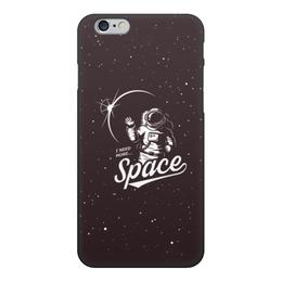 """Чехол для iPhone 6, объёмная печать """"I need more space"""" - space, звезды, космос"""