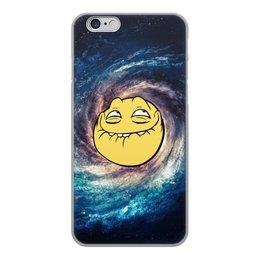 """Чехол для iPhone 6, объёмная печать """"космос mem"""" - мем, смешные, лицо, космос, mem"""