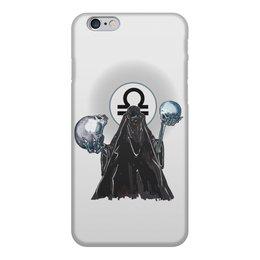 """Чехол для iPhone 6, объёмная печать """"Знаки зодиака - весы"""" - череп, весы, знак зодиака"""