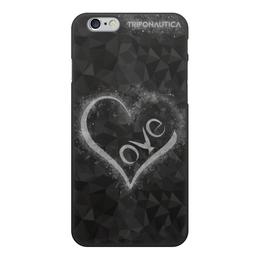 """Чехол для iPhone 6, объёмная печать """"iLove Black/Light Grey"""" - сердце, любовь, день святого валентина, 8 марта, подарок"""
