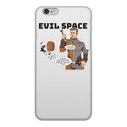 """Чехол для iPhone 6, объёмная печать """"Злой Космос"""" - комиксы, космос, робот, злой космос, робот и человек"""