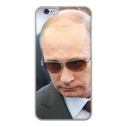 """Чехол для iPhone 6, объёмная печать """"ПУТИН. ПОЛИТИКА"""" - арт, стиль, очки, россия, президент"""