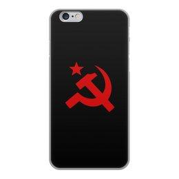 """Чехол для iPhone 6, объёмная печать """"Советский Союз"""" - ссср, русский, россия, советский союз, серп и молот"""