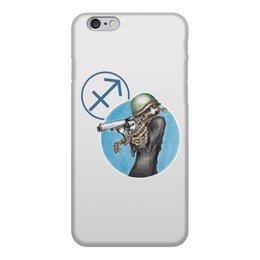 """Чехол для iPhone 6, объёмная печать """"Знаки зодиака - стрелец"""" - череп, пистолет, оружие, стрелец, знак зодиака"""