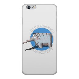 """Чехол для iPhone 6, объёмная печать """"Слон редкий, полосатый"""" - слон, животное, полосатый, редкий, следствие ведут знатоки"""