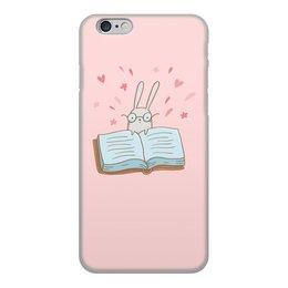 """Чехол для iPhone 6, объёмная печать """"Умный кролик в очках"""" - заяц, сказка, книжка, кролик, умный"""