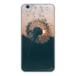 """Чехол для iPhone 6, объёмная печать """"Одуванчик"""" - цветы, одуванчик"""