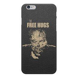 """Чехол для iPhone 6, объёмная печать """"The Walking Dead"""" - зомби, free hugs, обнимашки, ходячие мертвецы, twd"""