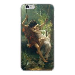 """Чехол для iPhone 6, объёмная печать """"Весна (Пьер Огюст Кот)"""" - кот, картина, живопись"""
